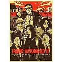 Weuewq 氏。ロボット映画ポスター絵画背景壁アート写真装飾リビングルームホームギフトキャンバスに印刷-20X28インチフレームなし