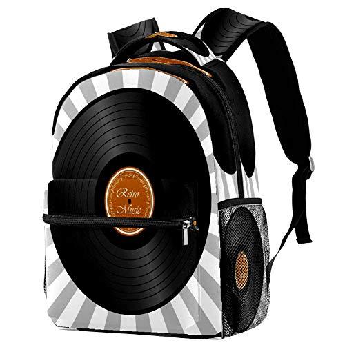 Tableros de pared blanco negro gris mochila de madera mochila escolar bolsa de libro mochila casual para viajes, estampado 4 (Multicolor) - bbackpacks004