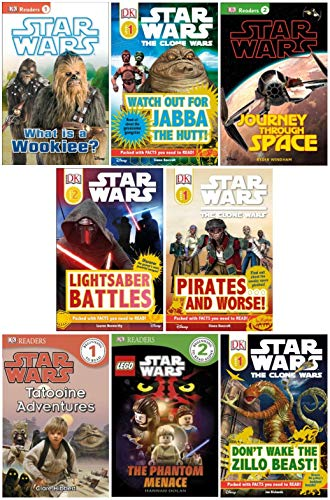 Dk Reader Star Wars Set (8 Books) : Watch Out for Jabba the Hut; Don't Wake the Zillo Beast; Tatooine Adventures; What Is a Wookie; Pirates and Worse; Journey Through Space; Star Wars Lego the Phantom Menace; Yoda in Action (Book Sets for Kids : DK R