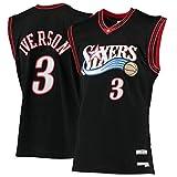 ZDFG Hombres Camiseta de Baloncesto Philadelphia 76ers Outdoor Allen #3 Suitable Sports Iverson Baloncesto Away Camiseta Ezail Camiseta Vest - Negro