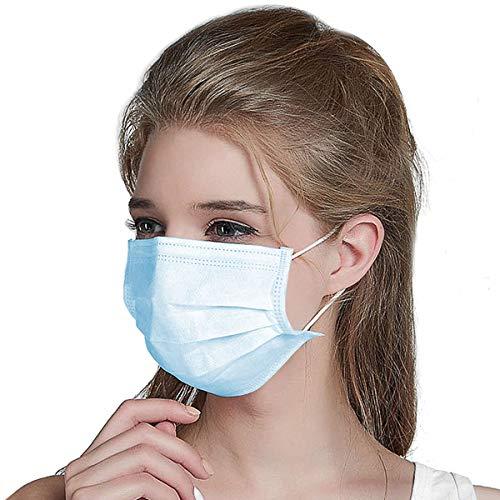 Masken 20 Stück Einweg OP-Maske Mundschutz Staubschutz Infektionsschutz Schutzmaske Atemschutzmaske Weiß-201 - 4