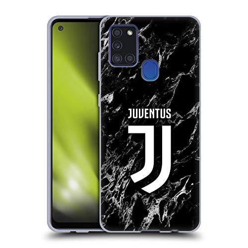 Head Case Designs Offizielle Juventus Football Club Schwarz Marmor Soft Gel Handyhülle Hülle Huelle kompatibel mit Samsung Galaxy A21s (2020)