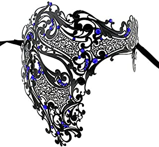Men's Signature Phantom Of The Opera Half Face Mask Metal