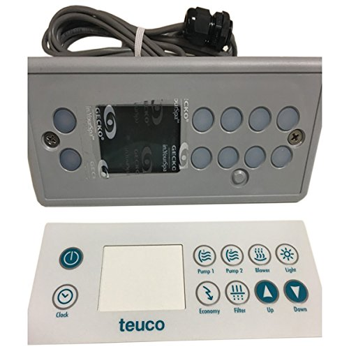 TEUCO Repuesto de panel de mandos con marco de 10 botones para minipiscina 86102010