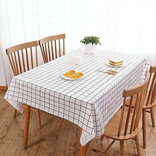 shiyueNB tafelkleed, kunststof keuken, oliebestendig, tafelkleed, decoratie, elegant, waterdicht, tafelkleed, banket, hoofddecoratie, open haard tafelkleed, 140 x 180 cm
