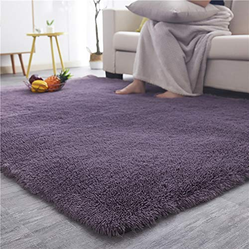 YOH Super Soft Area Rug for Girls Room Nursery Room Rug Fluffy Carpet Decorative for Living Room Bedrooms (5'3''x 7'5'',Blush )