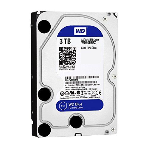 Western Digital WD Blue 3TB WD30EZRZ PC Hard Drive 64MB Cache, 5400RPM (Generalüberholt)