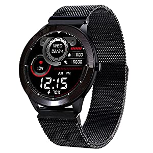 """Maxima Max Pro X4 Smartwatch with SpO2, Up to 15 Day Battery life, 1.3"""" Round Full-touch Display with Ultra Bright Screen of 380 Nits, 10+ Sports Mode, Continuous Heart Rate Monitoring, & Unlimited Customized Watch Faces"""
