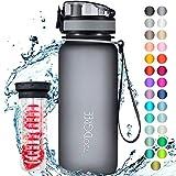 """720°DGREE Trinkflasche """"uberBottle"""" +Früchtebehälter - 650ml - BPA-Frei - Auslaufsichere Wasserflasche für Kinder, Schule, Uni, Sport, Fitness - Sportflasche aus Tritan - Leicht, Bruchsicher"""