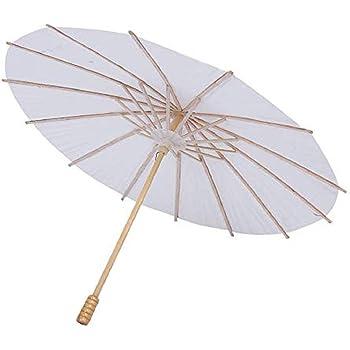 54 cm Chinois en Bambou Papier Parasol Parapluie,Vennisa Classique Mariage Tournage Parasol Fait /à La Main Ombrelle Mariage Parasol Mariage D/écor Danse Photo Cosplay Prop A