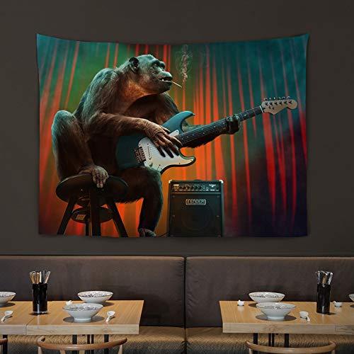 VSander Wand Wohnzimmer Wand/Tier Hängende Wand/Bar/Restaurant/Tee Shop Hintergrund Dekorative Malerei/Hängen/Hängen (Color : Orangutan)