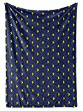 Premium Fleece Throw Blankets Handmade University of Michigan Lightning Bolt | Super Soft Cozy...