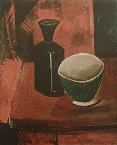 The Museum Outlet – Vert _ Bol _ et _ black _ Bouteille, Tendue sur toile Galerie enveloppé. 50,8 x 71,1 cm