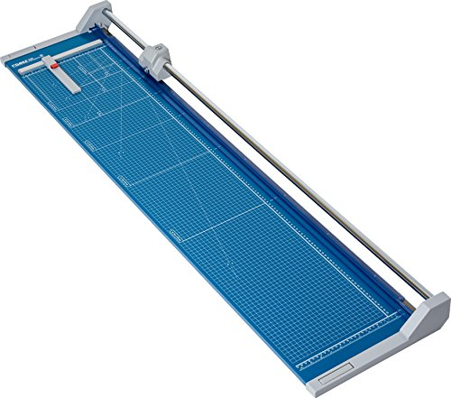 "Dahle 558 Professional Rolling Trimmer, 51-1/8"" Cut Length, 12 Sheet Capacity, Self-Sharpening, Automatic Clamp, German Engineered Paper Cutter"