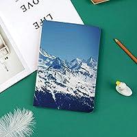 軽量版 iPad Pro 11 ケース 極薄軽量 2つ折りスタンド 磁気吸着式 オートスリープ機能 傷つけ防止 手帳型 2018秋発売のiPad Pro 11に対応 スマートカバー鮮やかな空の雪に覆われた冬の山の頂上母なる地球魔法の自然写真