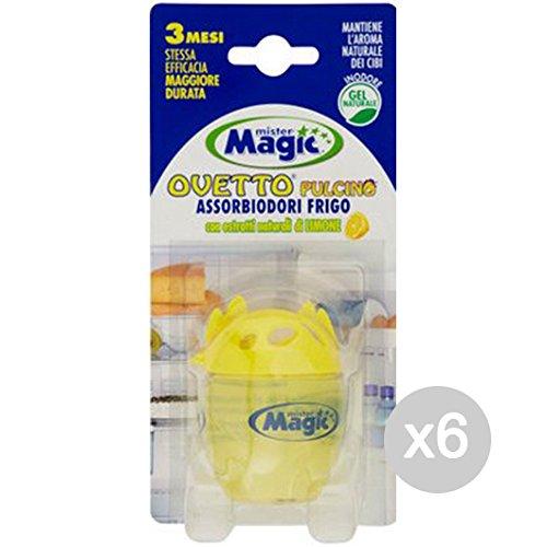 Mister Magic Set 6 Deodorante Frigo Ovetto Pulcino Limone Profumazione Della Casa