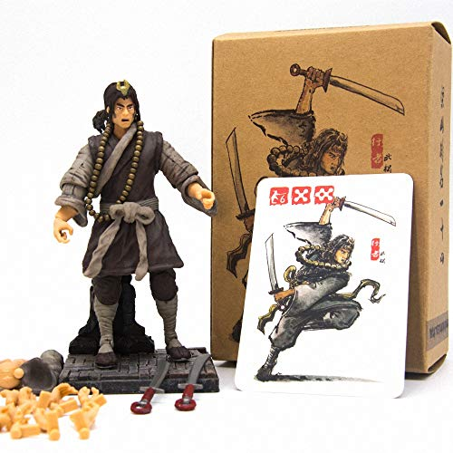 3.75-inch Action Figure The Water Margin PVC Model Toys Collectible Figures for Birthday (Wu Song)