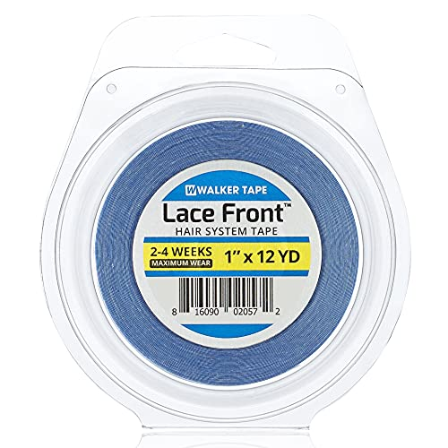 Walker 12 Yards Lace Front Support Tape (1/2 inch) For Toupee and Wig, Clear