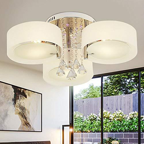 3/5/7 piezas de lámpara de techo de cristal, lámpara de techo E27,...