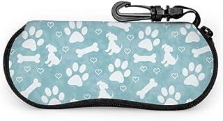 Wthesunshin Funda Gafas Pata de perro multicolor Neopreno Estuche Ligero con Cremallera Suave Gafas Almacenaje