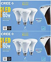 Cree SBR30-06527FLFD-12DE26-1-13 Led 65W Replacement BR30 Soft White (2700K) Dimmable Flood Light Bulb, (6 Pack)