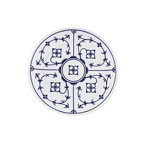 Eschenbach Porzellan Group Tallin Indischblau Teller flach Coup 17 cm, Porzellan, Indigoblau, 1 x 1 x 1 cm