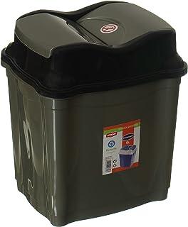 Winner Plast Trash Bin - Grey Black