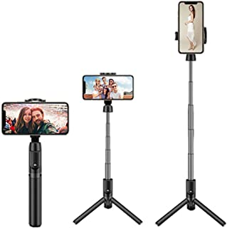 NMD&LR Bluetooth Selfie Stick, All-in-One Mobile Phone Selfie Stick with Tripod, Mini Aluminum Multifunctional Selfie Stic...