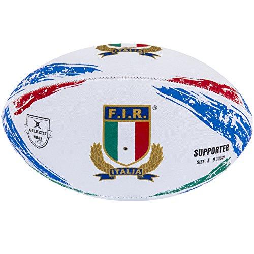 Gilbert Unisex Italia Supporter Palla, Multicolore, Taglia 5