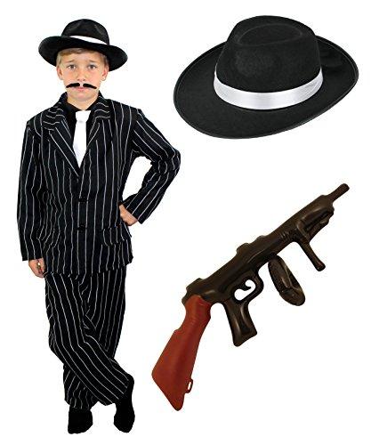 Costume de Gangster ILOVEFANCYDRESS pour Enfant Style années 1920. ( 12-14 Ans )