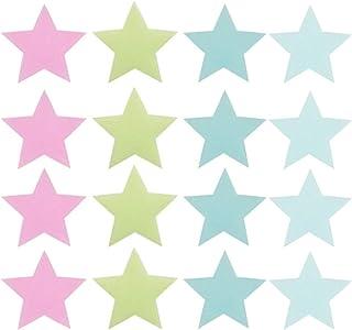 NUOBESTY 300 peças adesivos de parede que brilham no escuro, decalque de teto de janela estrelada DIY para festa de Natal ...