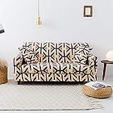 ASCV Funda de sofá elástica para Sala de Estar Funda de sillón de Licra Funda de sofá con Estampado mágico de Flores 4 tamaños Disponibles A4 3 plazas