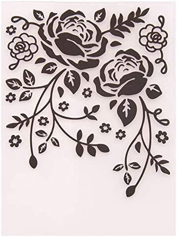 Welcome to Joyful quality assurance Home Kansas City Mall 1PC Fold Leaves Background Embossing Rose