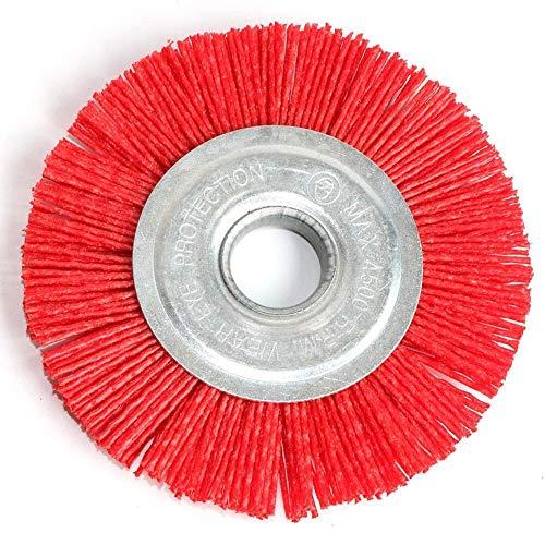 LiuliuBull Cepillo de Pulido 1pc 125 * 22 mm 5 Pulgadas Nylon Abrasivo Cepillo Grano de Rueda 80 Polímero Abrasivo Alambre Dibujo Redondo Pulido Redondo Cepillo de Madera Drurro