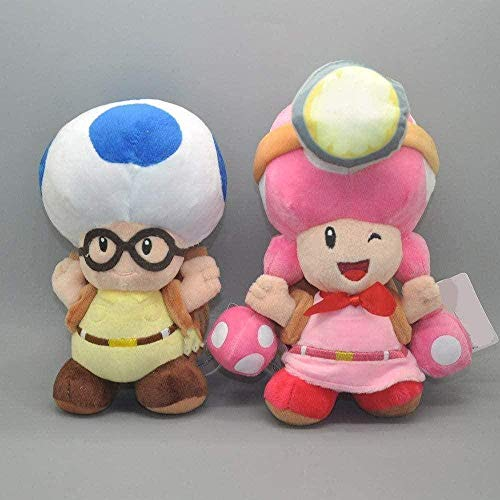 NC87 Super Mario Toys 2 Unidades/Lote Super Captain Toad Treasure Tracker Toadette Peluches de Peluche