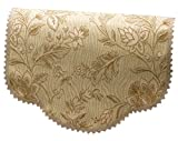 Classic Home Store Tapestry Style Chair Back Lace Trim Flower Sofa Furniture Cover Antimacassar (Beige)