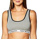 Tommy Hilfiger Women's Cotton Lounge Scoop Back Bralette, Heather Grey, M