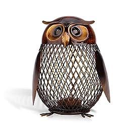 Image of Tooarts Owl Shaped Metal...: Bestviewsreviews
