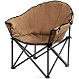 Giantex Portable Camping Chair, Lawn Chair, Outdoor Folding Chair with Cup Holder, Soft Seat, (Red)