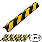 Electriduct Rubber Corner Guards 30' for Parking Columns and Garage Walls L-Shaped (Pack of 10)