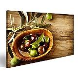 bilderfelix® Bild auf Leinwand Oliven und Olivenöl