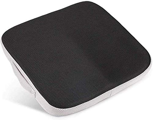 Portable Comfort Cushion Orthopedic Memory Foam Seat Cushion Coccyx & Lower Seat Cushion for Office Car Seats Back Pain Relief Cushion Great Office Chair Cushion (Black and White)