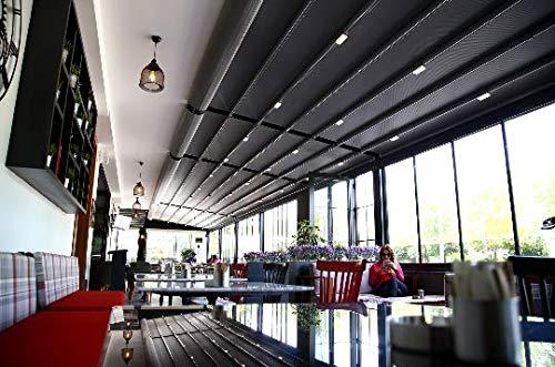 Nao Pergola bajo consumo de toldo retráctil impermeable 3.5 m x 3.5 m: Amazon.es: Jardín