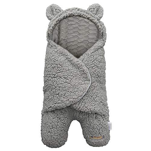BlueSnail Newborn Receiving Blanket Baby Sleeping Wrap SwaddleLight Gray