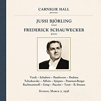Jussi Björling at Carnegie Hall, New York City, March 2, 1958