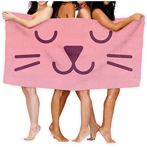 Edmun Toalla de baño Rosa para Gatos, Secado rápido, rápido, sin Arena, súper Absorbente, Ultraligero, Suave, Compacto, de Viaje al Aire Libre, Manta de Playa para baño de Gimnasia