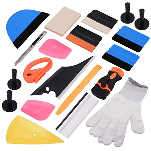 Ehdis 15 Arten von Auto-Vinylverpackungs -Werkzeug Tönungs Kit für Auto Tonung Scraper Anwendung