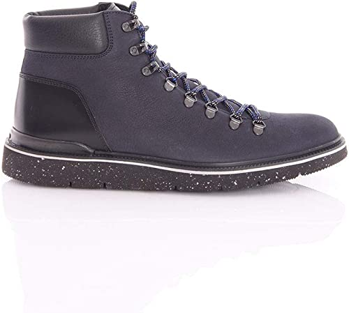 HOGAN Hiking Stiefel H392 IN Leather Blau, Hombre.