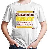 Hariz – Camiseta para niño de guardería, supervivencia, incluye tarjeta de regalo Blanco 10 años