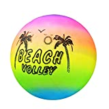 DUMGRN Portable Outdoor Volleyball,Summer Beach Ball Inflatable Pool Swim Rubber Rainbow Beach Volleyball...
